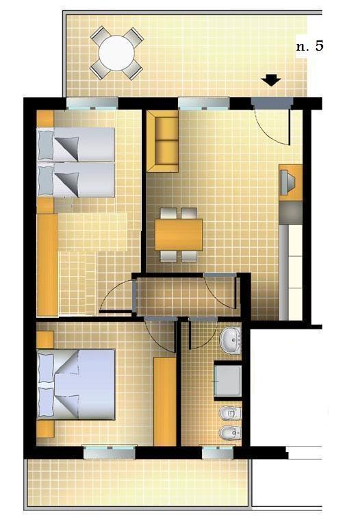Appartamenti estivi a cattolica bilocali e trilocali al for Progetti mini appartamenti